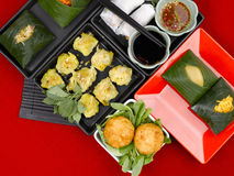 Composition of thai food Stock Photography