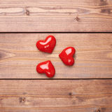 Composition of three hearts Stock Photography