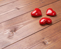 Composition of three hearts Royalty Free Stock Photo