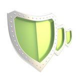 Composition of three shields isolated Stock Photos