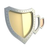 Composition of three shields isolated Royalty Free Stock Photography