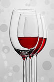 A composition of three wineglasses royalty free stock photography