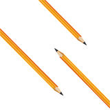 Composition from three yellow pencils. Vector  Stock Photography