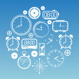 Composition with time symbols Stock Photo