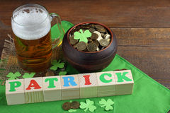 Composition to the day of St. Patrick Royalty Free Stock Photo