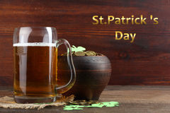Composition to the day of St. Patrick royalty free stock photos