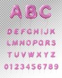 Composition transparente réaliste en alphabet de ballon illustration de vecteur