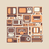Composition with TV symbols Royalty Free Stock Photos