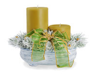 Composition of two candles Stock Photos