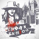 Composition urbaine de mode Images libres de droits