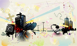 Composition urbaine de vecteur illustration de vecteur