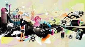 Composition urbaine de vecteur illustration stock