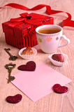 Composition for Valentine's Day royalty free stock photo