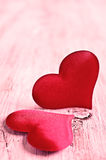 Composition for Valentine's Day stock images