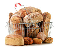 Composition with variety of baking products on white Stock Photography