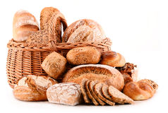 Composition with variety of baking products on white Royalty Free Stock Image