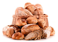 Composition with variety of baking products on white Stock Images
