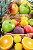 Composition with variety of fresh fruits. Balanced diet Royalty Free Stock Photography