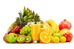 Composition with variety of fresh fruits. Balanced diet.  Royalty Free Stock Photography