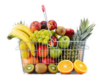 Composition with variety of fresh fruits. Balanced diet.  Stock Photography