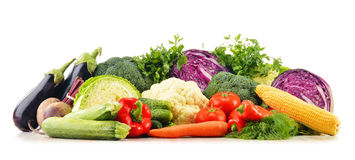 Composition with variety of fresh raw organic vegetables.  Stock Photography