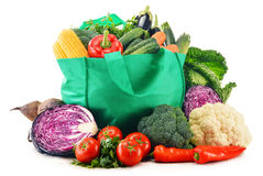 Composition with variety of fresh raw organic vegetables. On white background Stock Image