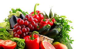 Composition with variety of fresh vegetables and fruits. Detox diet Stock Photos