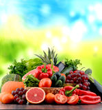 Composition with variety of fresh vegetables and fruits Royalty Free Stock Image