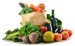 Composition with variety of fresh vegetables Stock Photography