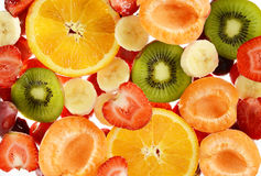 Composition with variety of fruits Royalty Free Stock Images