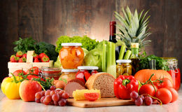 Composition with variety of organic food Royalty Free Stock Photography