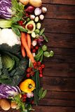 Composition with variety of raw organic vegetables and fruits. Balanced diet stock photos