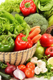 Composition with variety of raw vegetables Stock Images
