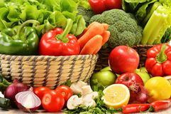 Composition with variety of raw vegetables Royalty Free Stock Photo