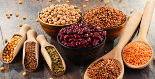 Composition with variety of vegetarian food ingredients Stock Photography