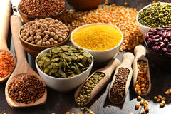 Composition with variety of vegetarian food ingredients Stock Photo