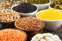 Composition with variety of vegetarian food ingredients Royalty Free Stock Image