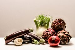 Composition of various fresh vegetables Royalty Free Stock Image