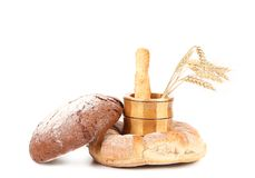 Composition of various healthy bread. Royalty Free Stock Photos