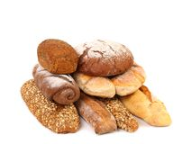 Composition various kinds of bread. Stock Photo