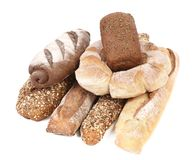 Composition various kinds of bread Stock Image