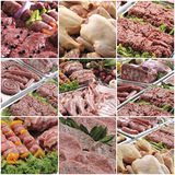 Composition of various meats collage Stock Photo