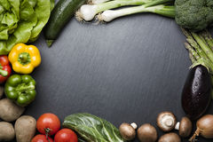 Composition of various vegetables and copyspace. Royalty Free Stock Photos