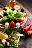 Composition with vegetable salad bowl. Balanced diet Stock Photography