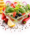 Composition with vegetable salad bowl. Balanced diet Stock Image