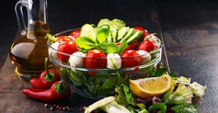 Composition with vegetable salad bowl. Balanced diet Stock Photo