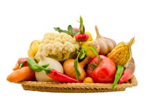 Composition of vegetables Royalty Free Stock Photo
