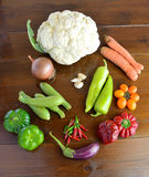 Composition with vegetables Stock Photography