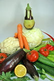 Composition from vegetables. The dietary still-life from vegetables and fruit should be in each house Stock Photos