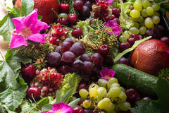 Composition from vegetables and fruit Royalty Free Stock Photos